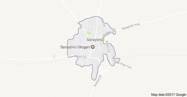 Konya Sarayönü Uydu Görüntüsü ve Haritası