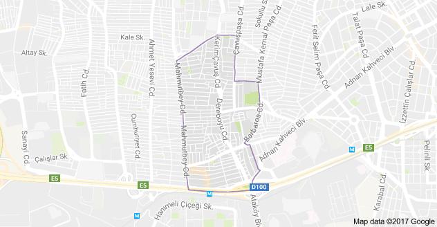 Siyavuş Paşa Mahallesi Uydu Görüntüsü Haritası Bahçelievler İstanbul