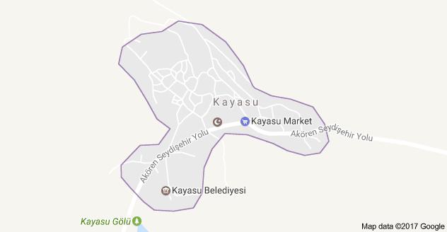 Akören Kayasu Mahallesi Uydu Görüntüsü ve Haritası