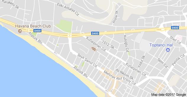 Alanya Otogarı Uydu Görüntüsü