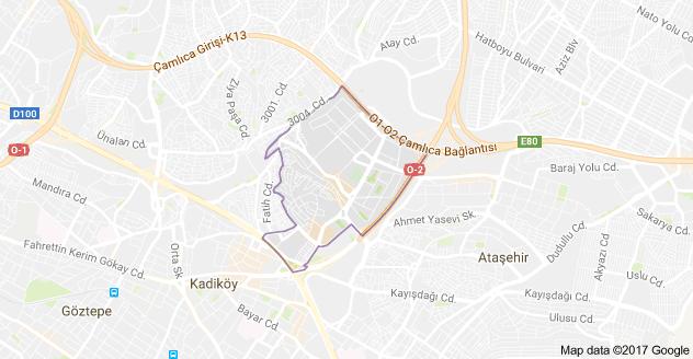 Barbaros Mahallesi Uydu Görüntüsü ve Haritası Ataşehir İstanbul