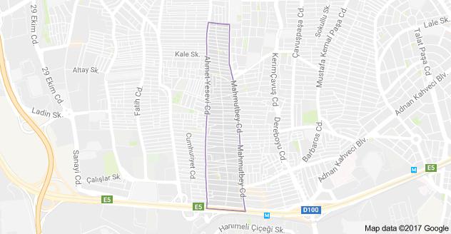 Hürriyet Mahallesi Uydu Görüntüsü Haritası Bahçelievler İstanbul