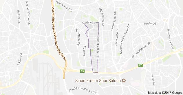 Zafer Mahallesi Uydu Görüntüsü Haritası Bahçelievler İstanbul