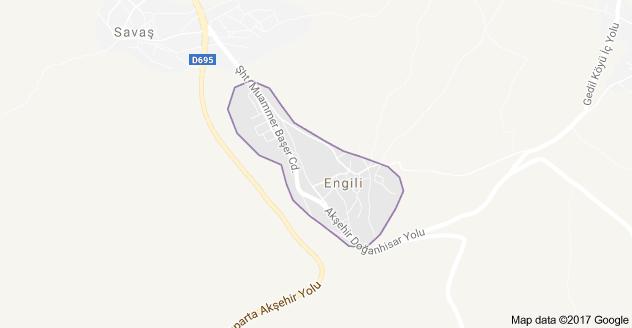 Akşehir Engili Uydu Görüntüsü