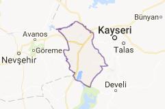 Kayseri İncesu İlçesi Uydu Görüntüsü Uydu Haritası
