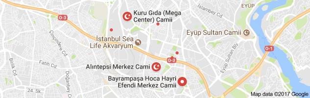 Bayrampaşa Merkez Camii Nerede Yol Güzergahı Tarifi Haritası