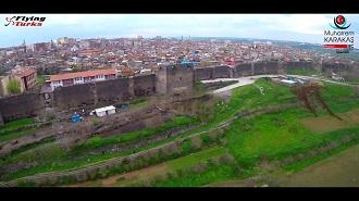 Diyarbakır Surları Havadan Kamera İzle