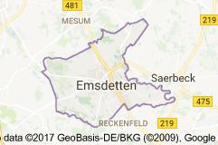Emsdetten Uydu Görüntüsü Uydu Haritası Almanya