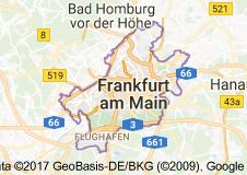 Frankfurt Uydu Görüntüsü Uydu Haritası Almanya