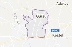 Gürsu Uydu Görüntüsü Uydu Haritası Bursa
