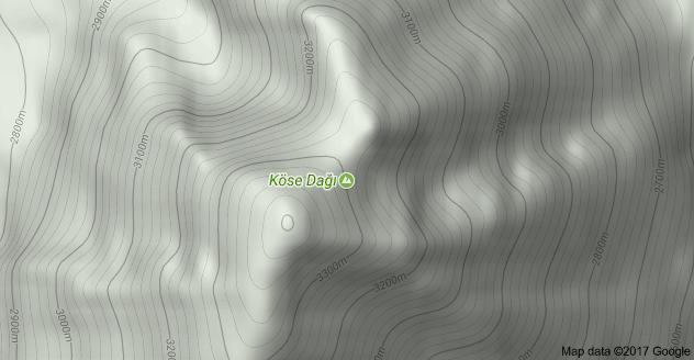 Köse Dağı Uydu Görüntüsü Uydu Haritası Ağrı