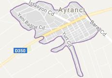 Karaman Ayrancı Uydu Görüntüsü ve Haritası