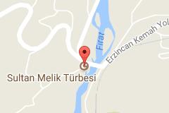 Sultan Melik Türbesi Uydu Görüntüsü ve Haritası Erzincan