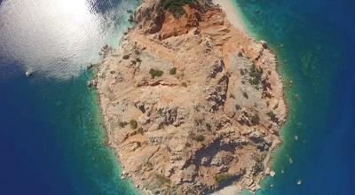 Sulu Ada Adrasan Havadan Kamera Görüntüleri İzle
