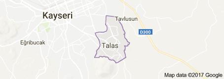 Kayseri Talas İlçesi Uydu Görüntüsü Uydu Haritası