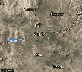 Nevşehir Acıgöl Uydu Görüntüsü Haritası