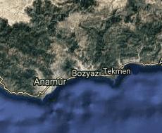 Mersin Bozyazı Uydu Görüntüsü Haritası