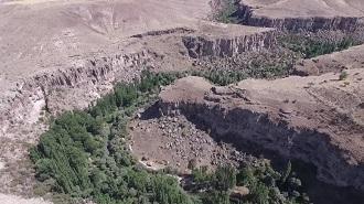 Kapadokya Ihlara Vadisi Havadan Kamera İzle