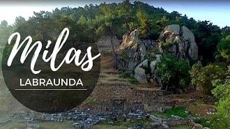 Milas Labranda Antik Kenti Havadan Kamera Görüntüsü İzle