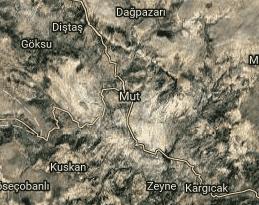 Mersin Mut Uydu Görüntüsü Haritası