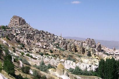 Nevşehir Uçhisar Uydu Görüntüsü Haritası