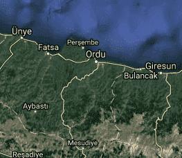 Ordu Uydu Görüntüsü Haritası