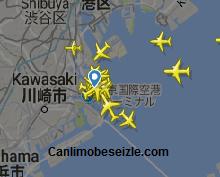 Tokyo Haneda Havalimanı Canlı Uçuş Uçak Takibi