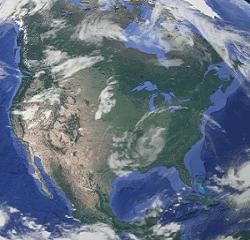Amerika Uydu Görüntüsü Uydu haritası